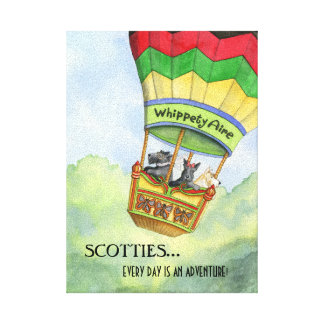 Scottie Adventures canvas print
