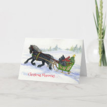 Scottie and sleigh Christmas Memories card