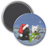 Scottie and Westie Christmas Star Magnet