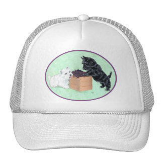 Scottie and Westie Grape Harvest Mesh Hats