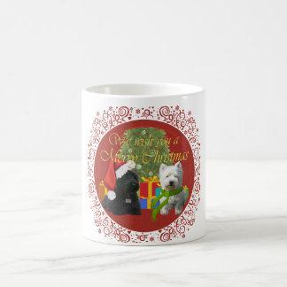 Scottie and Westie Merry Christmas Coffee Mug