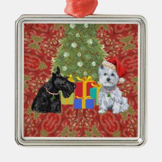 Scottie and Westie Ornament
