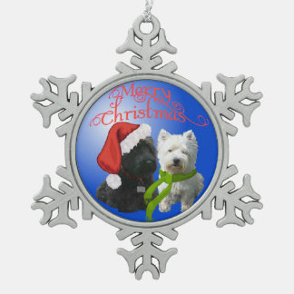 Scottie and Westie Ornament