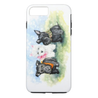 Scottie and Westie puppy magic iPhone 7 Plus Case