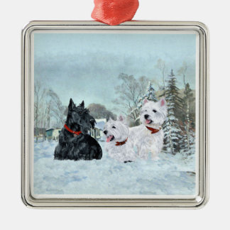 Scottie and Westies Ornament