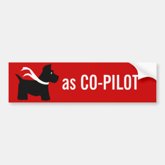 Scottie  as CO-PILOT Car Bumper Sticker