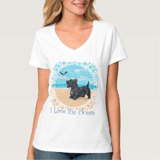 Scottie at the Beach Tee Shirt