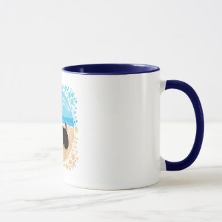 Scottie at the Beach with Seagull Mug