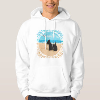 Scottie at the Beach with Seagull Pullover