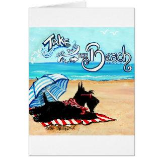 Scottie Beach Greeting Card