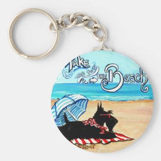 Scottie Beach Keychain