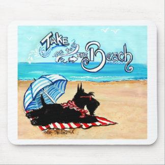 Scottie Beach Mouse Pad