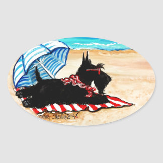 Scottie Beach Oval Sticker