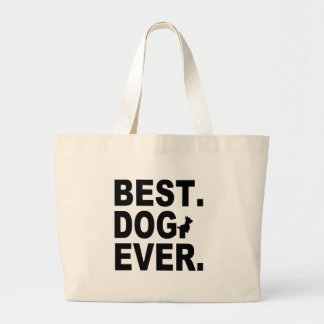 SCOTTIE BEST DOG EVER CANVAS BAGS