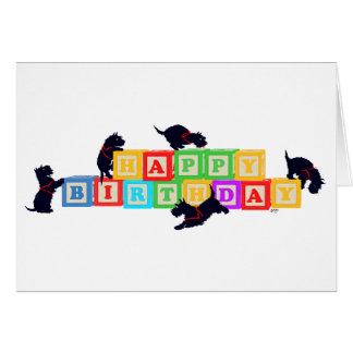 Scottie Birthday Blocks Card