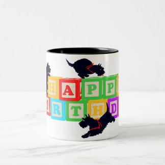 Scottie Birthday Blocks Mug