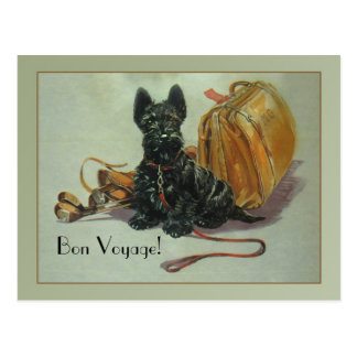 Scottie Bon Voyage Postcard