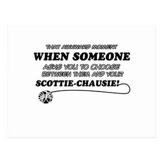 SCOTTIE-CHAUSIE cat designs Postcard