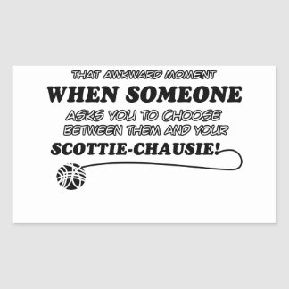 SCOTTIE-CHAUSIE cat designs Rectangular Sticker