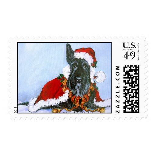 Scottie Claus Stamp