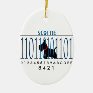 SCOTTIE DAD CERAMIC ORNAMENT