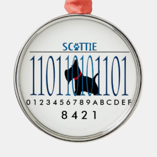 SCOTTIE DAD METAL ORNAMENT