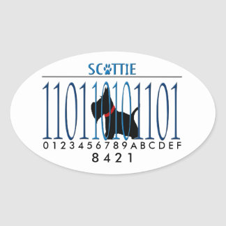 SCOTTIE DAD OVAL STICKER
