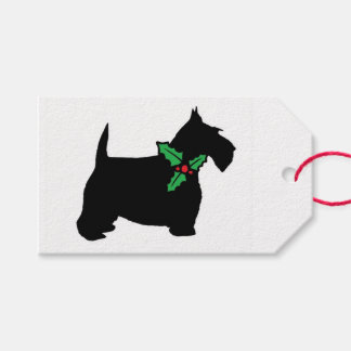 Scottie Dog and Holly Pack Of Gift Tags