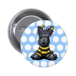Scottie Dog Bee 2 Inch Round Button