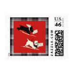 Scottie dog black and white Scotty vintage image Postage Stamp