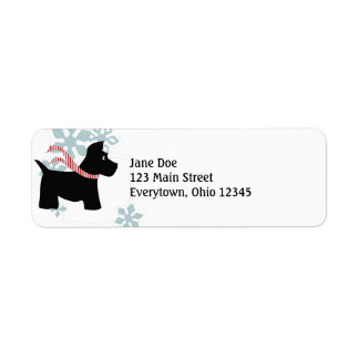 Scottie Dog Christmas Labels
