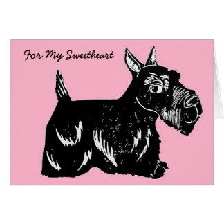 Scottie Dog For My Sweetheart Valentine's Day Card