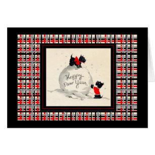 Scottish terrier happy holidays cards greeting photo cards zazzle scottie dog happy new year vintage image card m4hsunfo