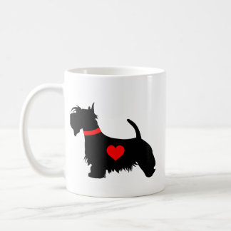 Scottie dog heart mug - picture both sides