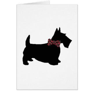 Scottie Dog in Plaid Bow Tie Card