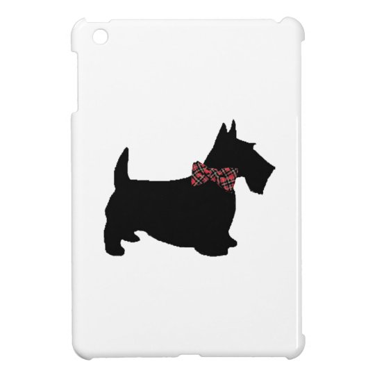 Scottie Dog in Plaid Bow Tie iPad Mini Covers