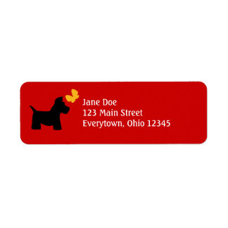 Scottie Dog Labels to Customize