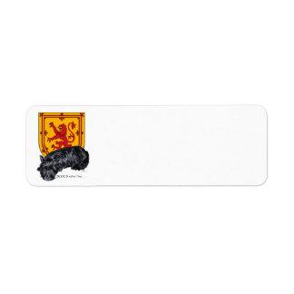 Scottie Dog Lion Rampant Flag Label