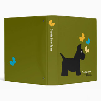 Scottie Dog Love Binder