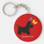 Scottie Dog Love Keychain