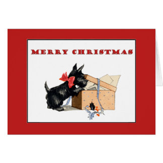Scottie Dog Merry Christmas card
