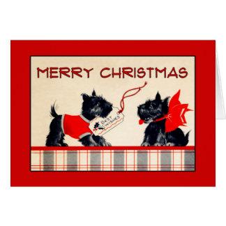 Scottie Dog Merry Christmas Christmas card