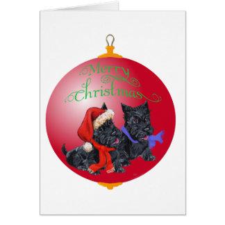 Scottie Dog Ornament Cards