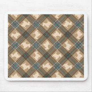Scottie Dog Plaid Tartan Mouse Pad