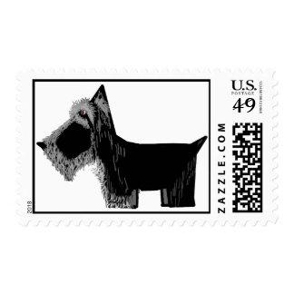 Scottie Dog Postage Stamps
