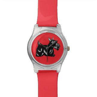 Scottie Dog Red Wristwatch