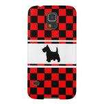 Scottie Dog Scottish Terrier Checkerboard Galaxy S5 Covers