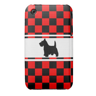 Scottie Dog Scottish Terrier Checkerboard iPhone 3 Case-Mate Case
