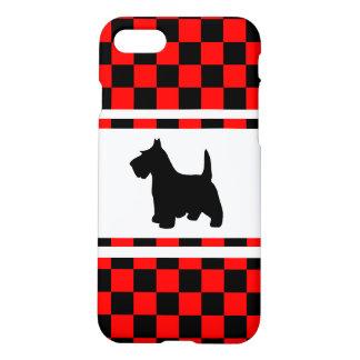 Scottie Dog Scottish Terrier Checkerboard iPhone 7 Case