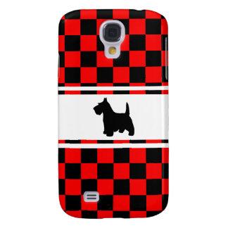 Scottie Dog Scottish Terrier Checkerboard Samsung S4 Case